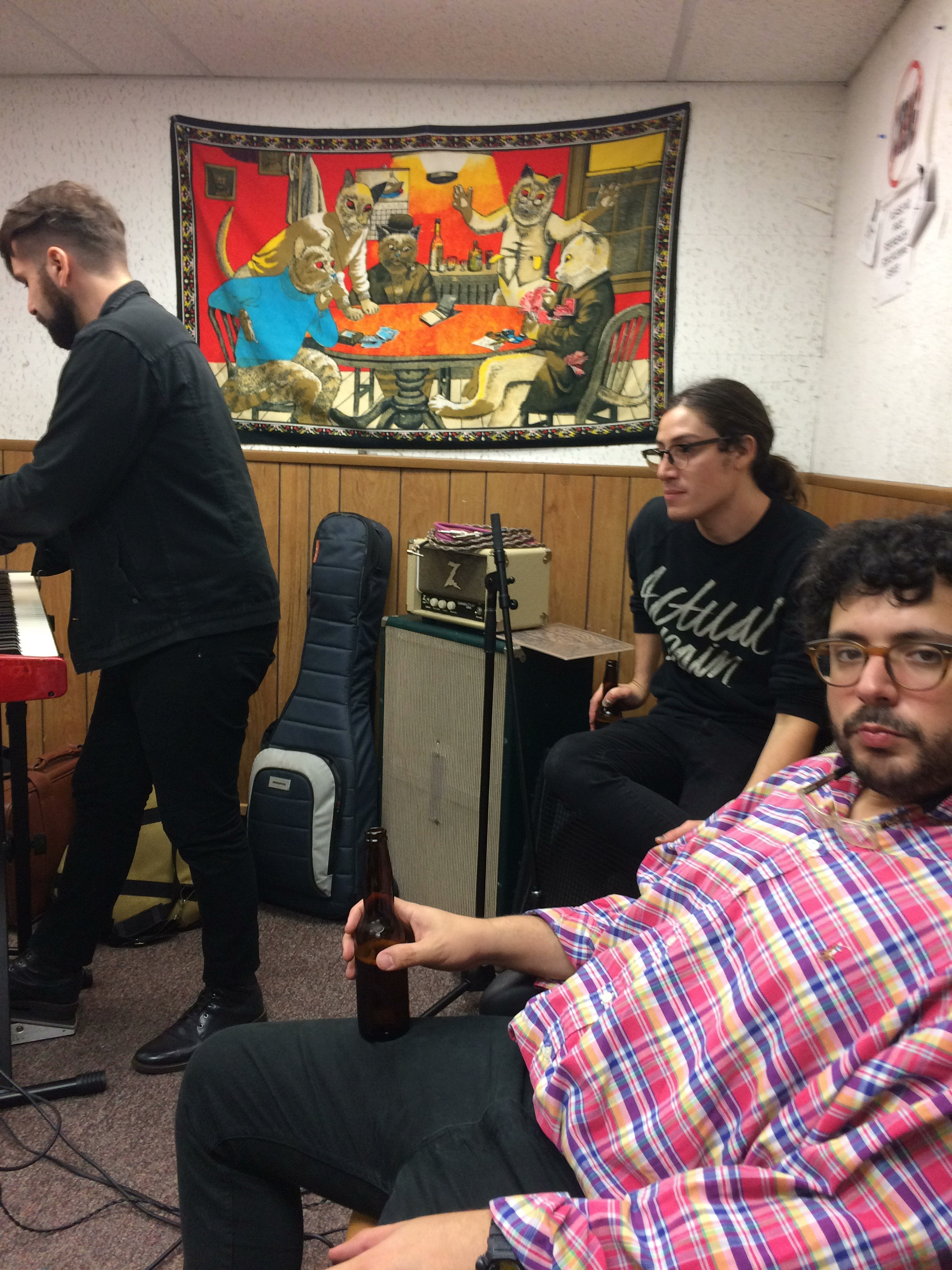setting up for a live sesh in KZSU at Stanford University