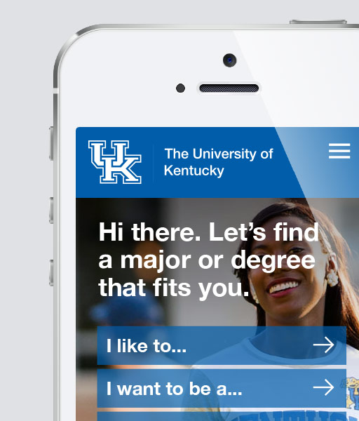 The University of Kentucky   UI / UX Design