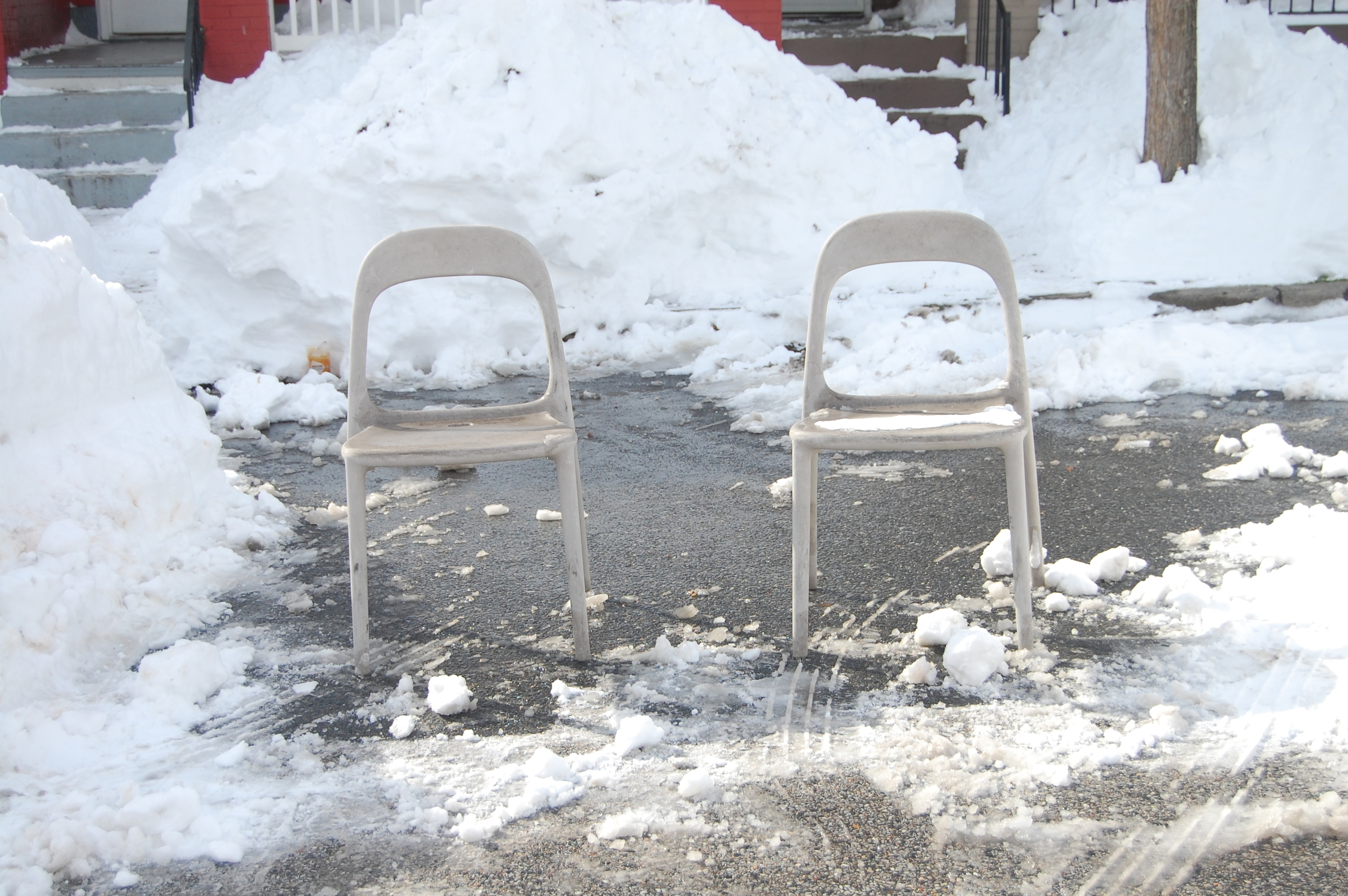 Baltimorean Tradition  of Placing Chairs to Save Shoveled Parking Spots