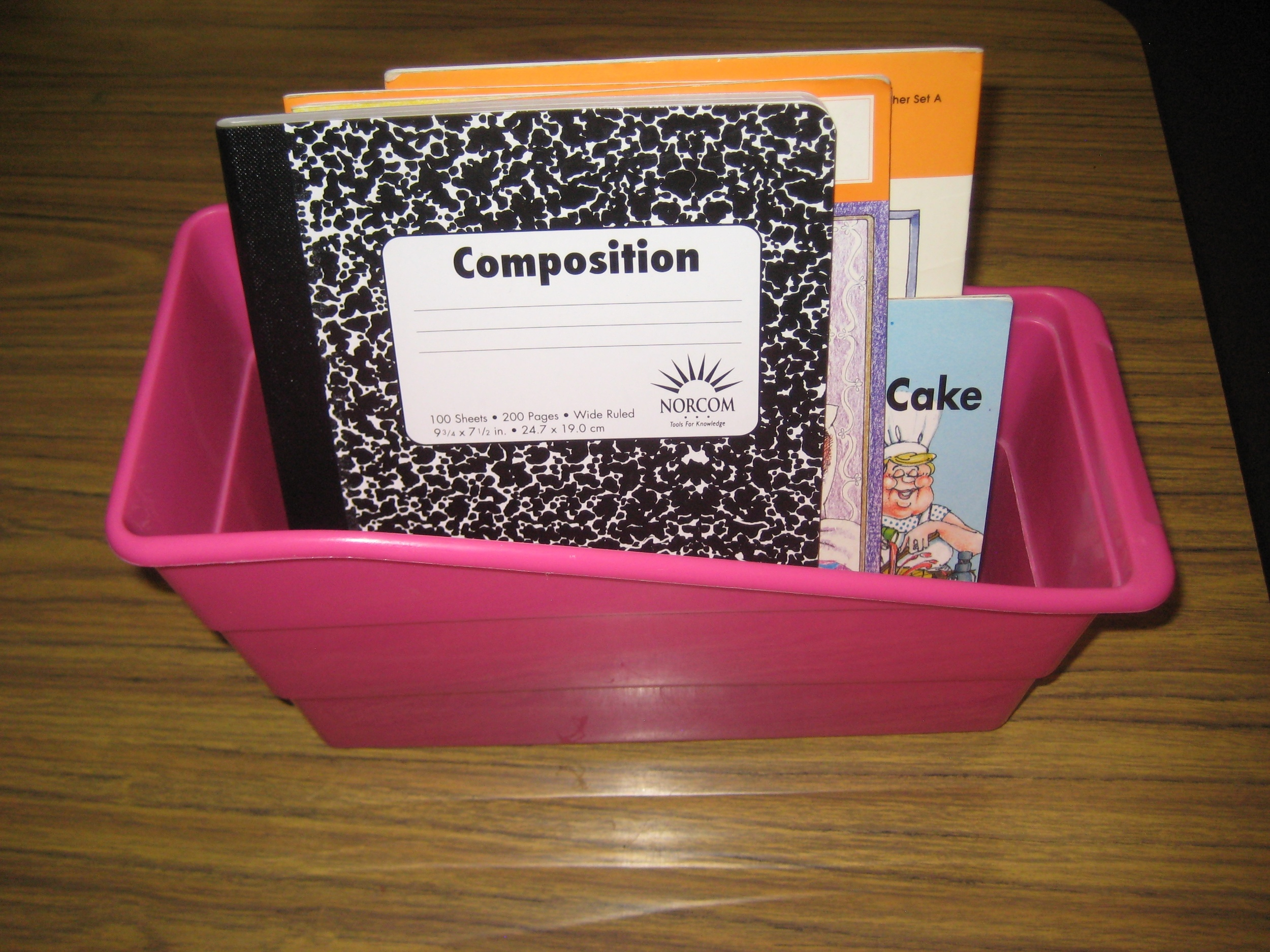 Students can keep a journal and a pencil in their book box to keep reading and writing materials easily assessable.