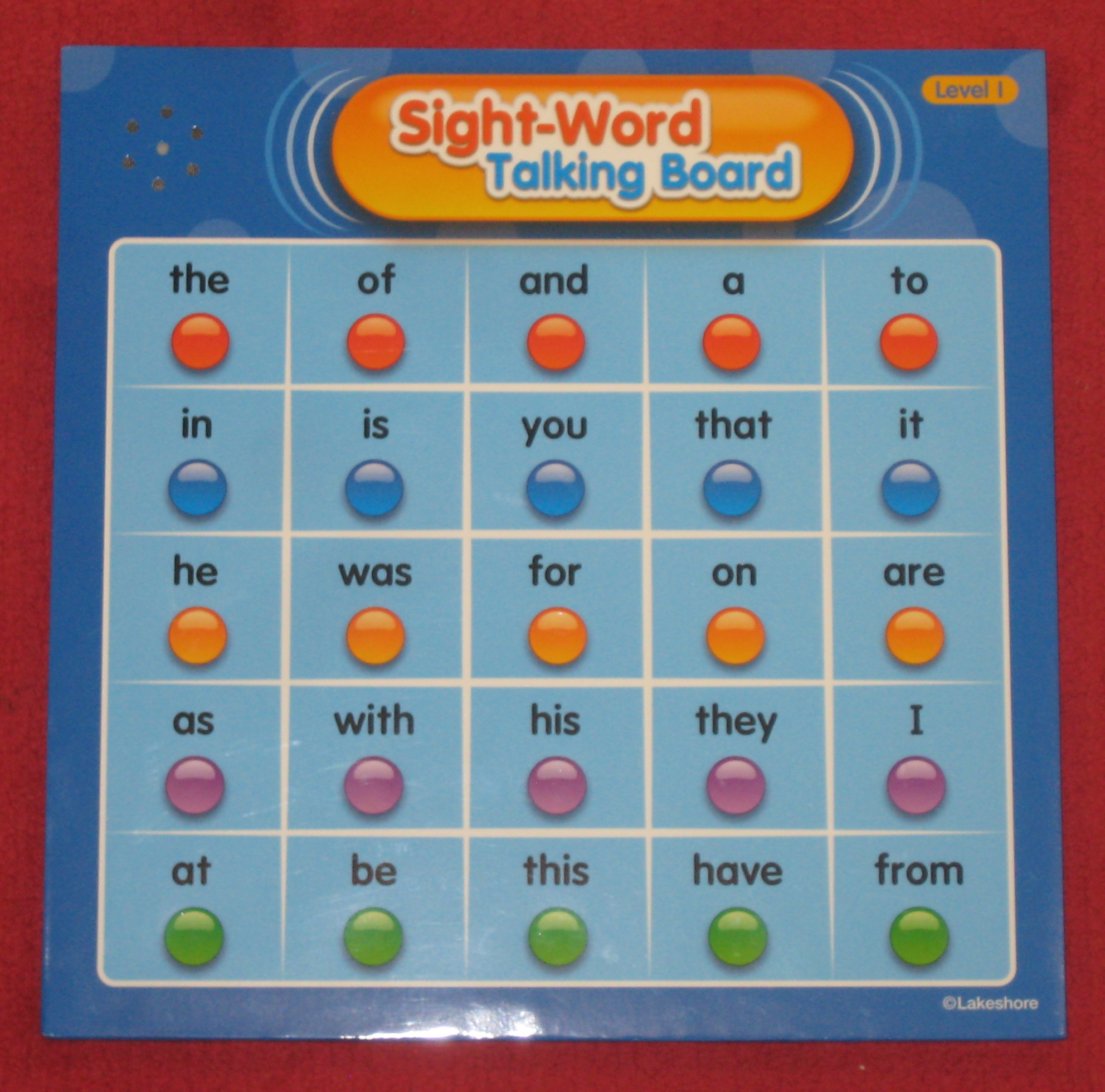 My kids think this Sight-Word Talking Board is great fun. In this center, they push the word, listen to it and then write it.