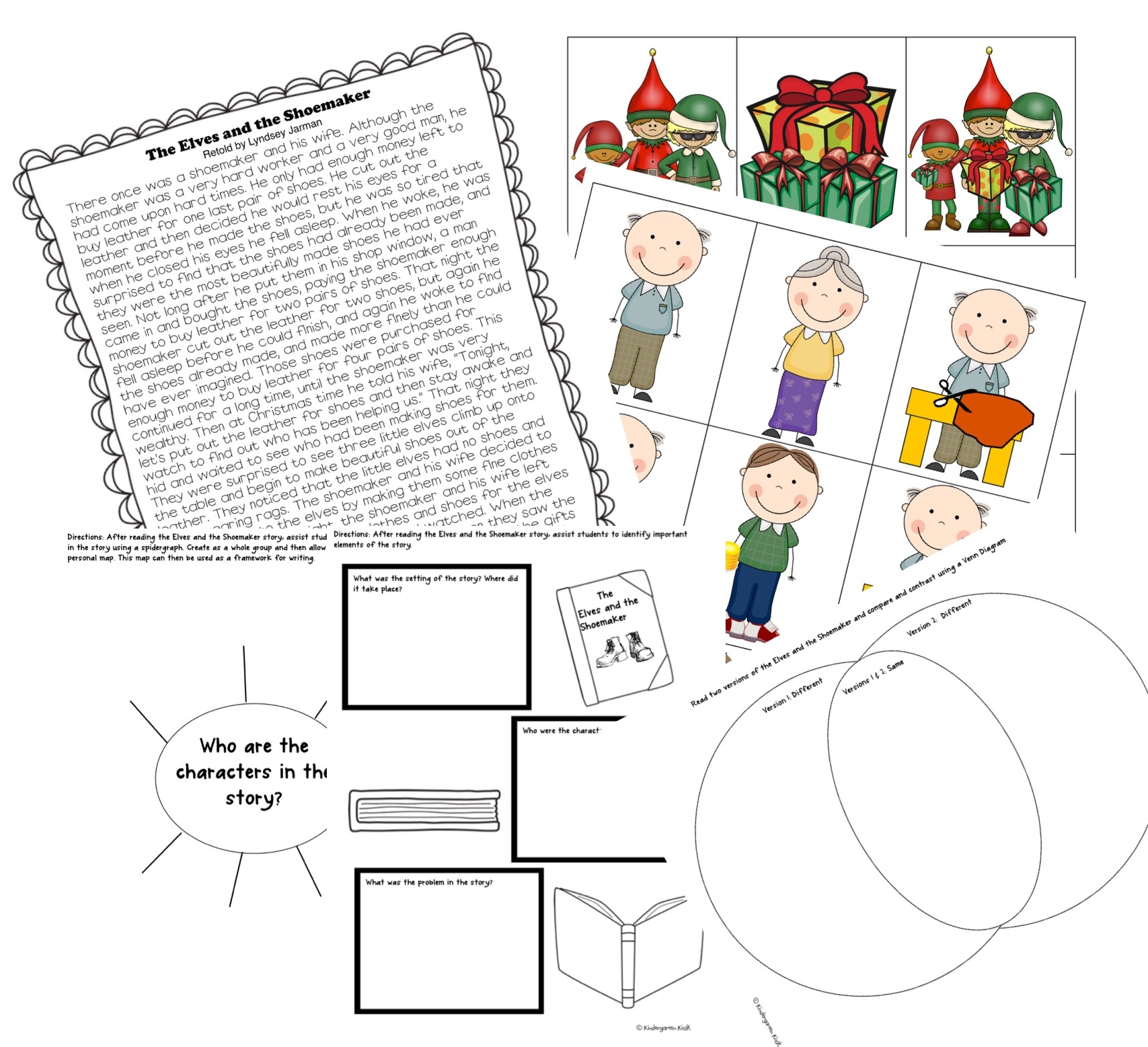 The Elves and The Shoemaker Storytelling Activity.