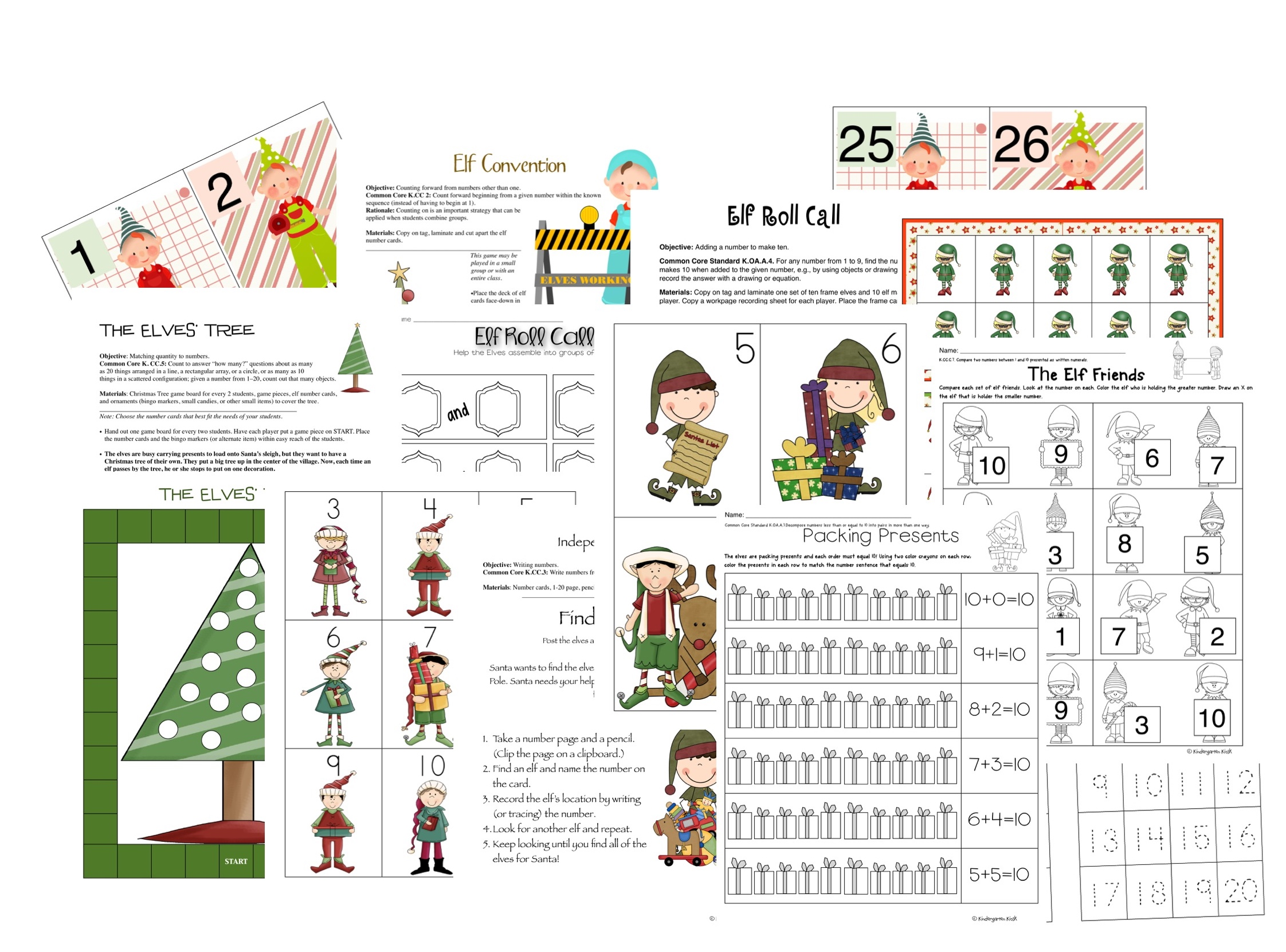 A sample of the included math lessons and worksheets.