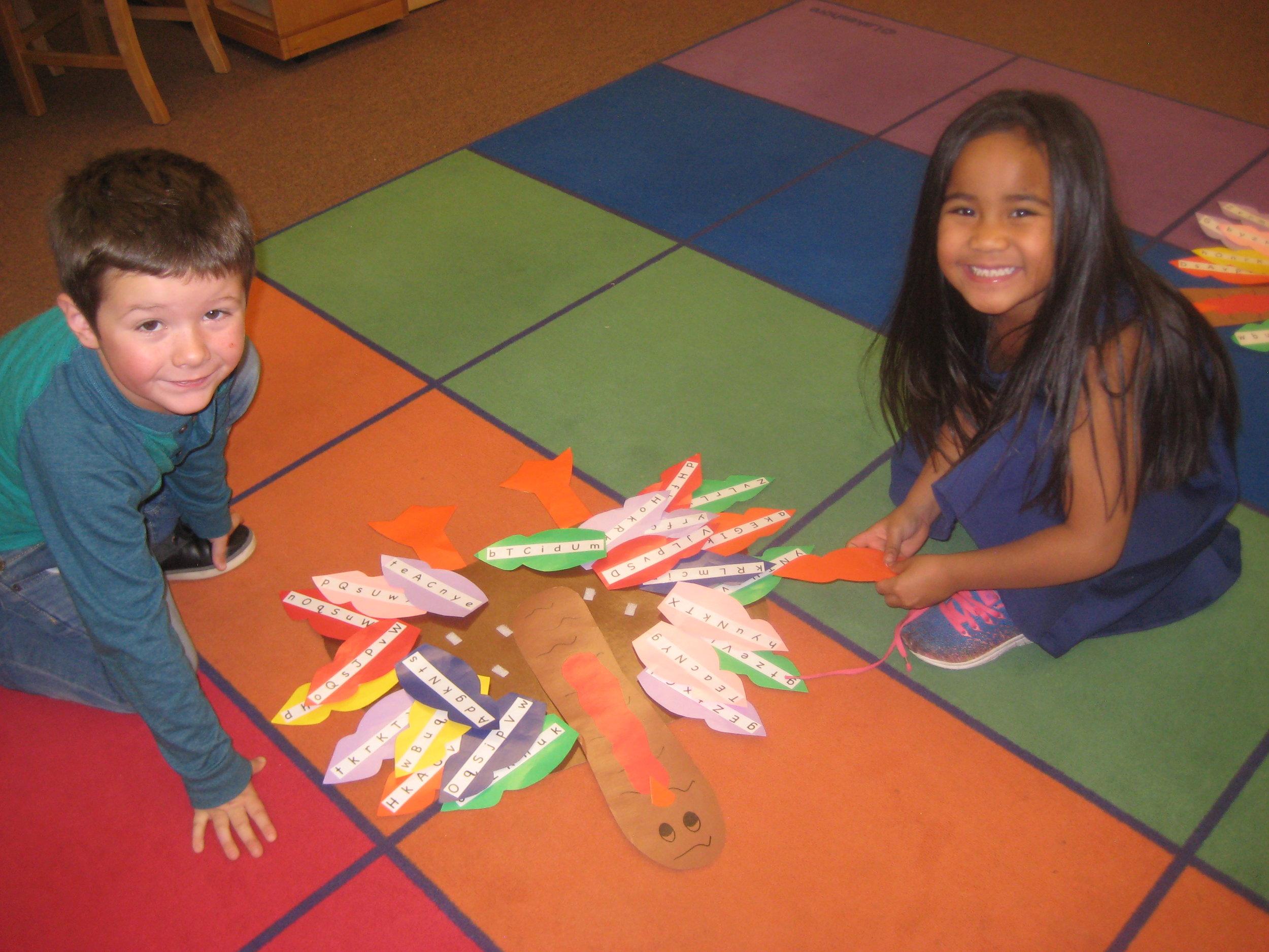 """Build a Turkey,"" an alphabet fluency game."
