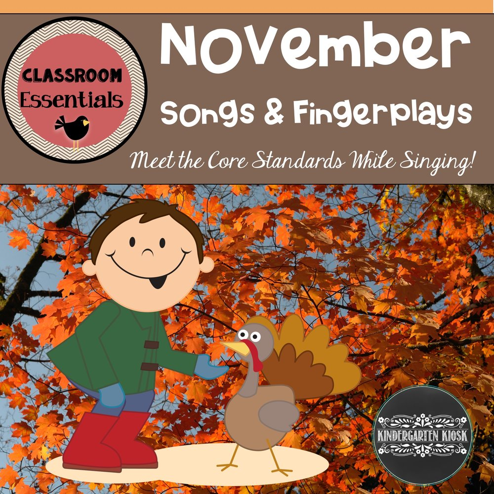 Thanksgiving Songs and Fingerplays for November