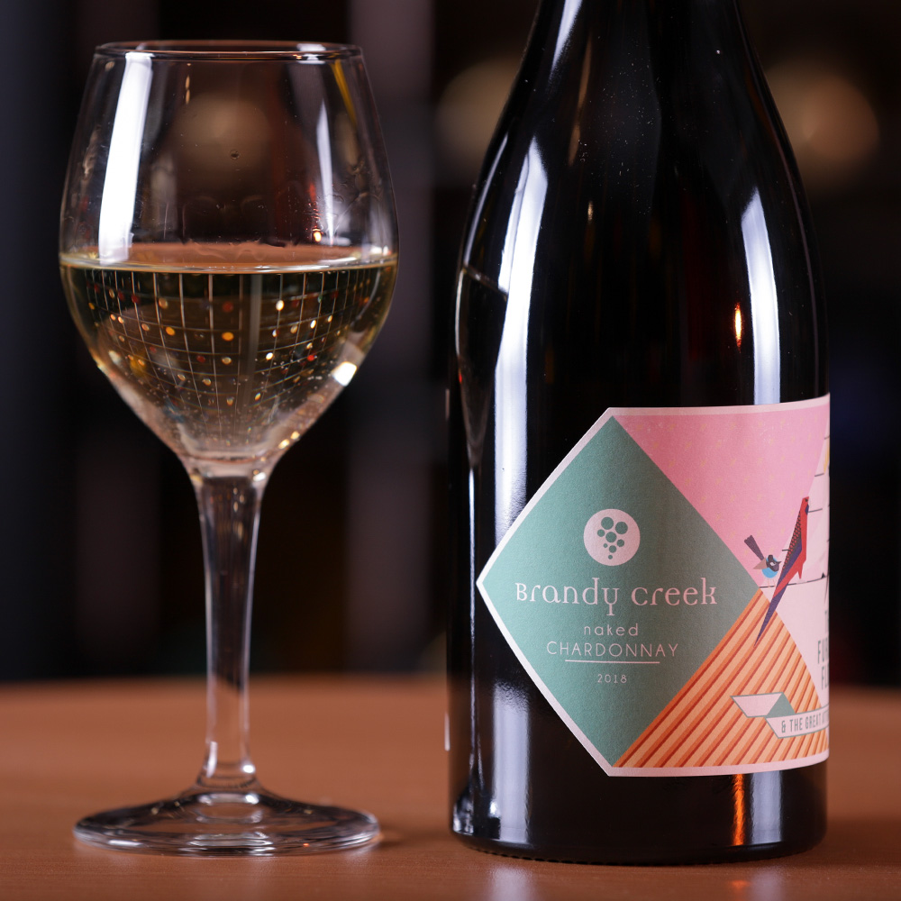 2018-Furious Flock Naked Chardonnay - Crisp, refreshing wine featuring the flavours of grape fruit, white peach, green apples and a mineral freshness. Perfect for lazy afternoons and big seafood banquets or both.