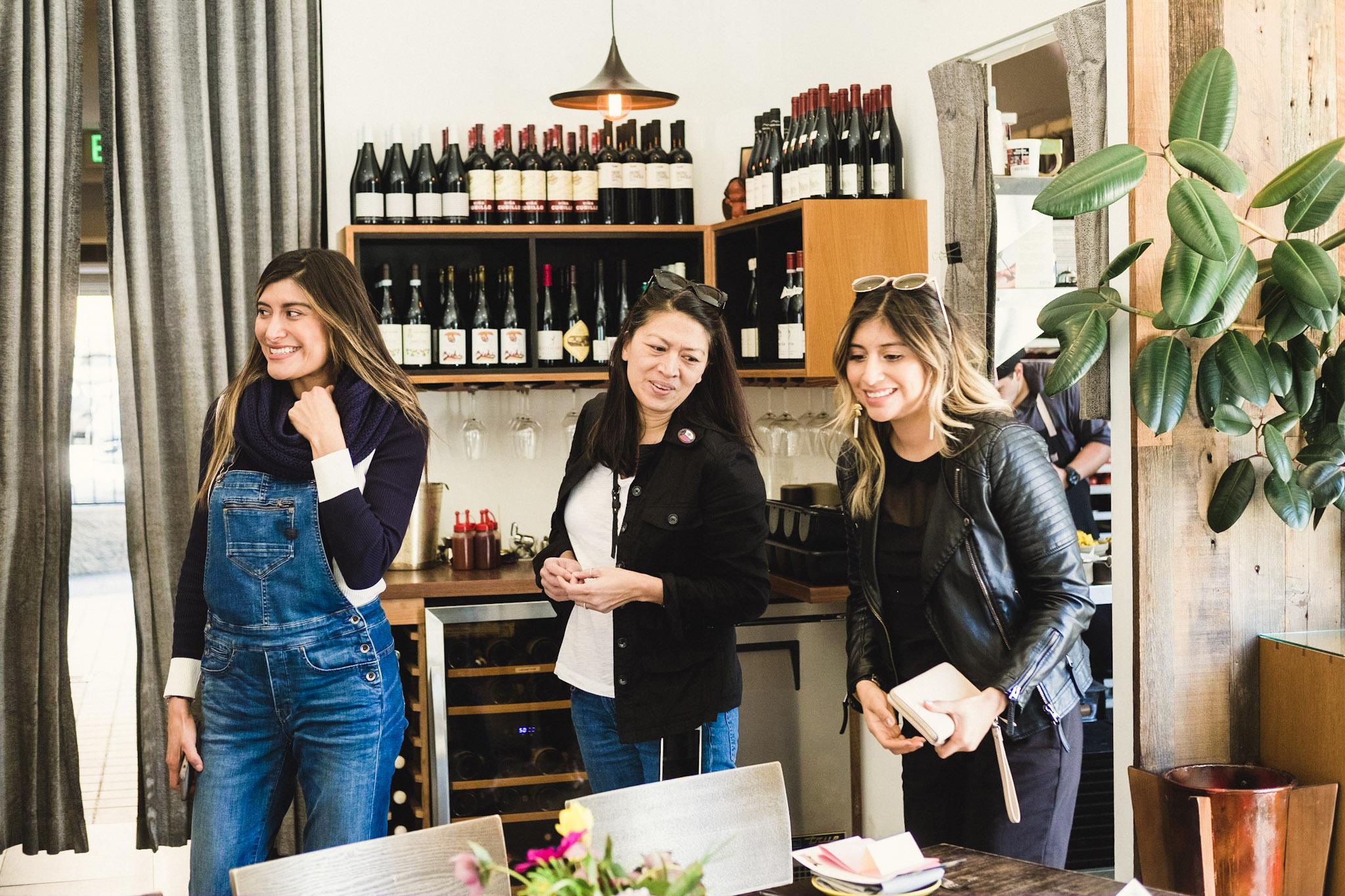 Bricia Lopez (Guelaguetza), Dina Samson (Rossoblu), and Elizabeth Lopez (Guelaguetza)