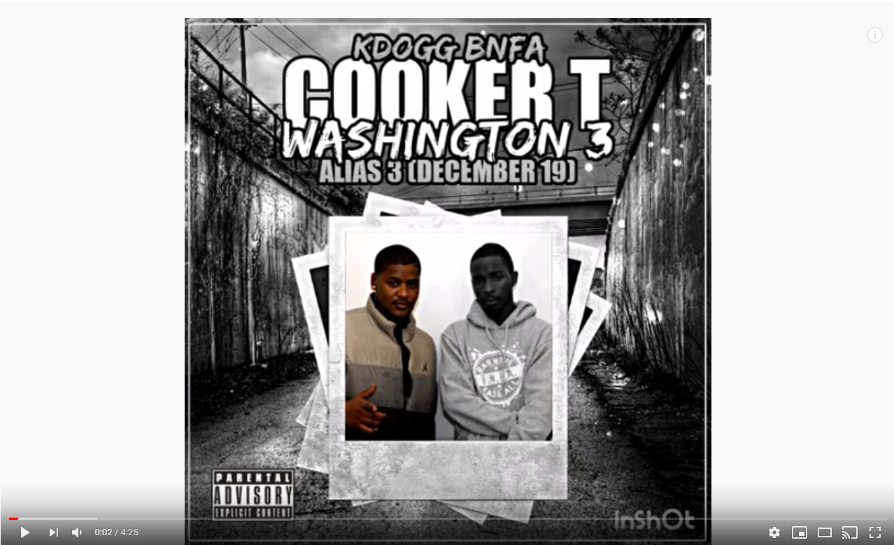 Cooker T Washington 3 - KDOGG is back w/ the newest track from his 3rd installment of the ALIAS series. This track is dedicated to a day one BNFA fallen soldier…