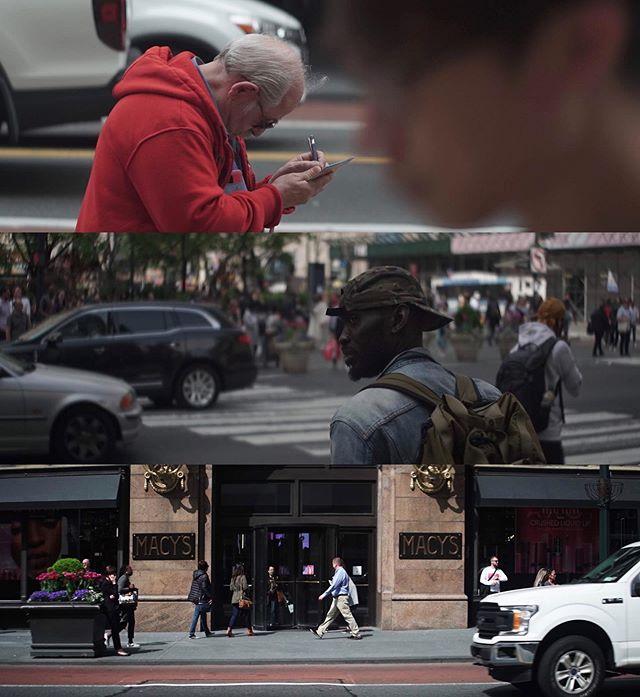 Widescreen 34th st. . . . . . . . . . . . #street #snapshot #anamorphic #nyc #midtown #34thstreet #humans #zeissikon #anamorphot #iscorama #iscorama36 #zeiss #cinema #cinematography #widescreen #zeissstandardspeeds #arriflex #sonyimages #a7sii