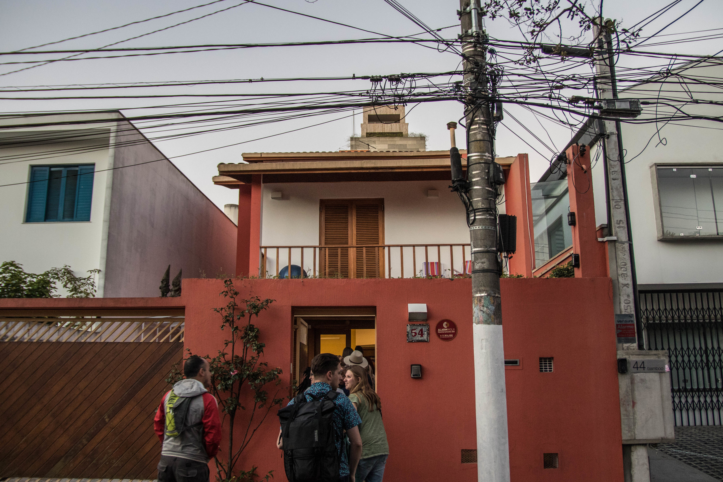 This is the hostel we'll be staying in while in Sao Paulo. I currently have five girls in the [extremely] small room I'm in.