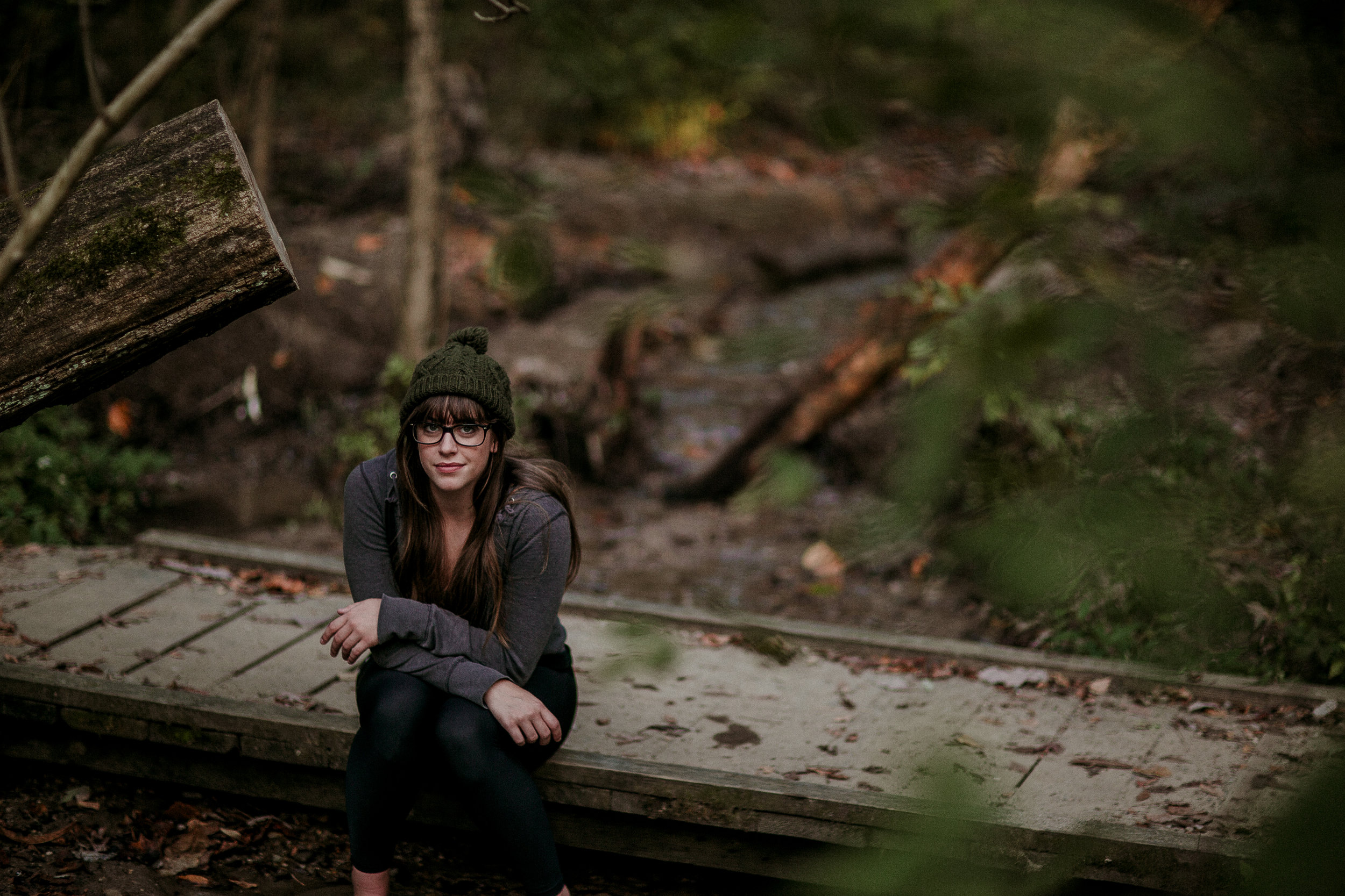We had a bonding photo hike at Mound State Park for the  Ball State Daily News  and I got some cute pics of my editor, Kaiti.