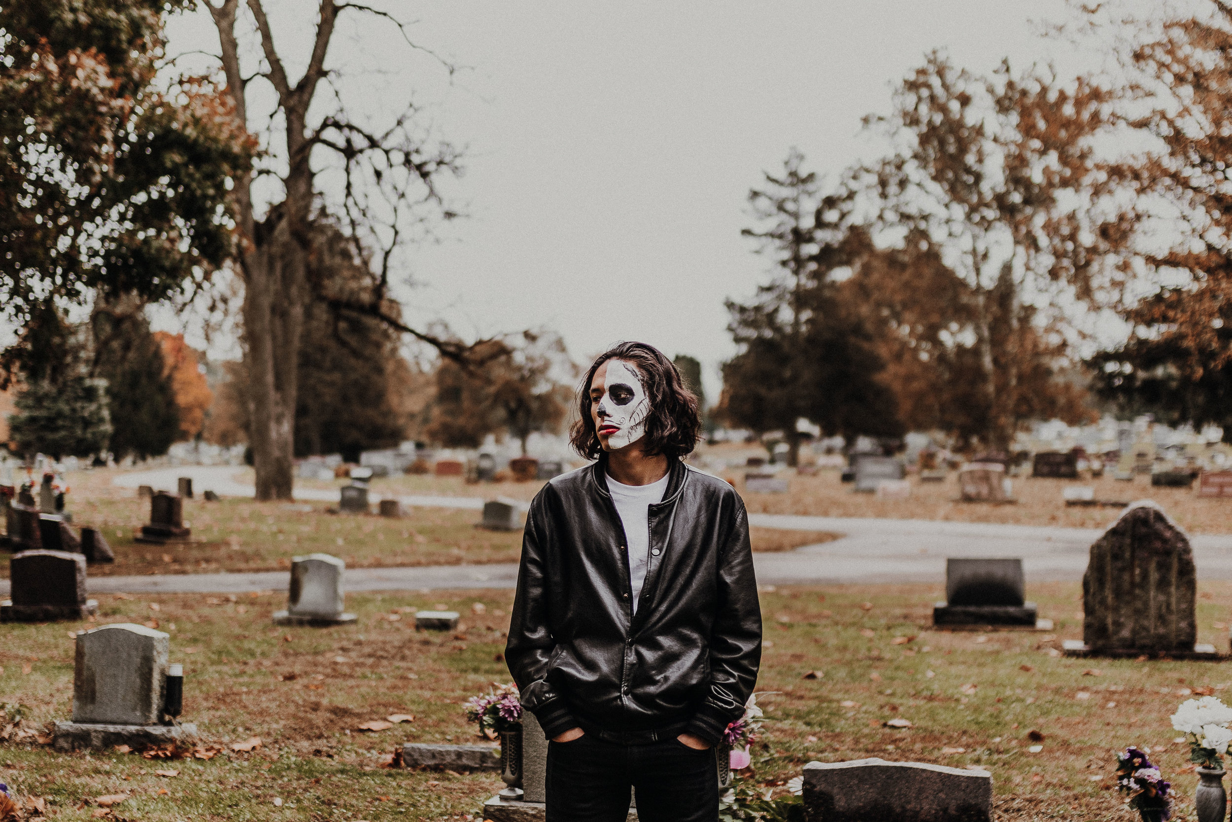 I had the pleasure of helping one of my photographer friends, Stephanie, with this Day of the Dead photoshoot at the beginning of the month. It was cold and rainy, but I'm really glad we got to fit in this session and hope to do another one (with better planning) next year!