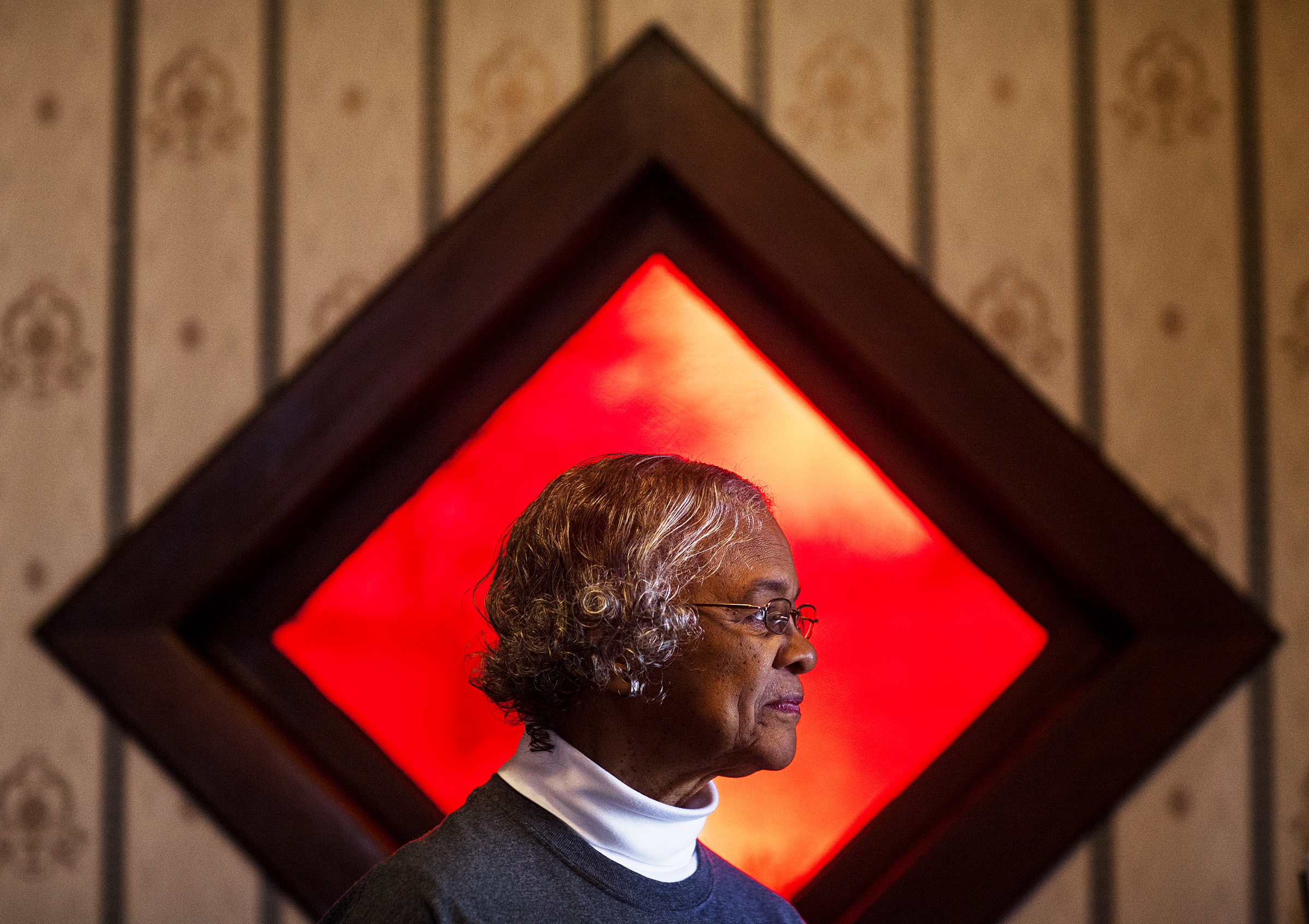 President of the board of the African American Heritage Center Alice Bailey poses for a photo on Wednesday, Feb. 24, 2016, in Franklin.