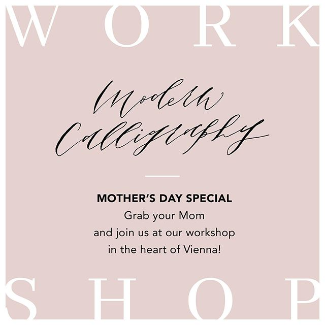 Are you still looking for a Mother's Day gift? How about spending your Sunday morning learning Modern Calligraphy. Come and join us us at one of our upcoming workshops hosted by the beautiful stationery shop @paperbird.papeterie in the heart of Vienna. All materials, snacks and drinks are included.  Date: Sunday, May12th Location: @paperbird.papeterie , Löwengasse 17, 1030 Vienna Time: 10:00 - 13:00 Registration: Link in Bio . . . #calligraphyworkshop #creativeworkshop#christmasworkshop #christmasgifts#neverstoplearning #vienna#viennaworkshop #workshopinvienna#kalligrafie #kalligrafieworkshop#modernekalligrafieworkshop#modernekalligrafie#geschenkeverpacken#weihnachtsworkshop#weihnachtsgeschenk #workshopinwien#wien #kreativeswien #kreativesschreiben #mothersday #mothersdaygifts #mothersdaygift #muttertag #muttertagsgeschenk