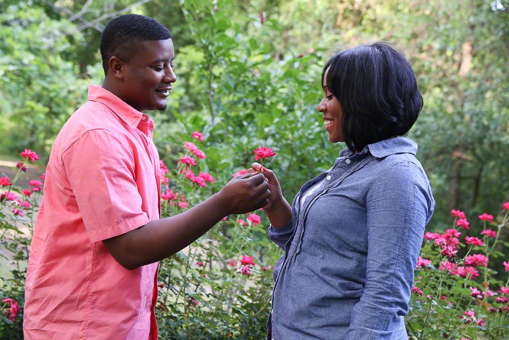 Lifestyle Engagement Portrait of Adorable Couple | Atlanta + Dallas Lifestyle, Fashion, & Business Portrait Studio and Outdoor Photographer | ksimonphotography.com | © KSimon Photography, LLC
