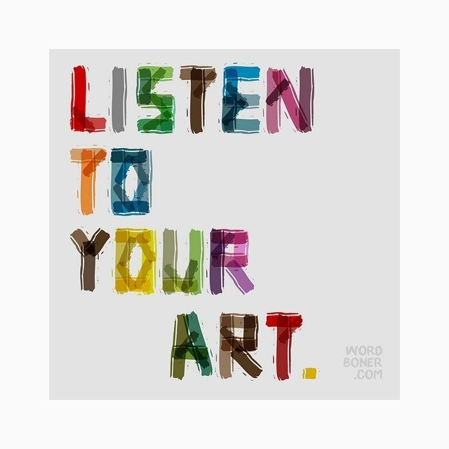 Yes! 🎨❤️   - Kimberly   #art #listen #inspiration #motivation #artishappiness