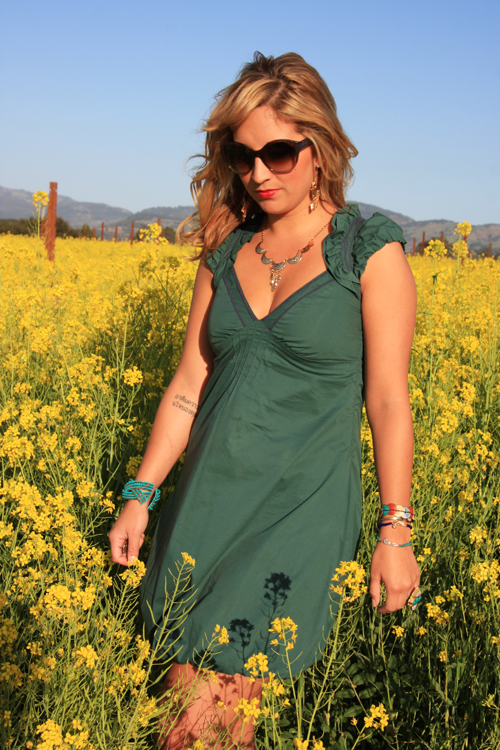 dalia-ceja-mustard-flowers-napa-valley-dress
