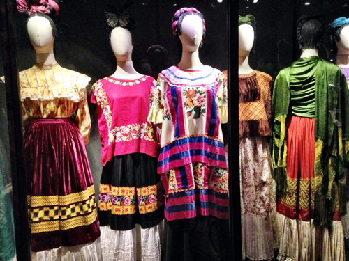 Frida's colorful wardrobe - discovered in her home in 2004