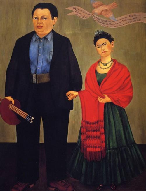 Wedding portrait. Frida and Diego - 1931