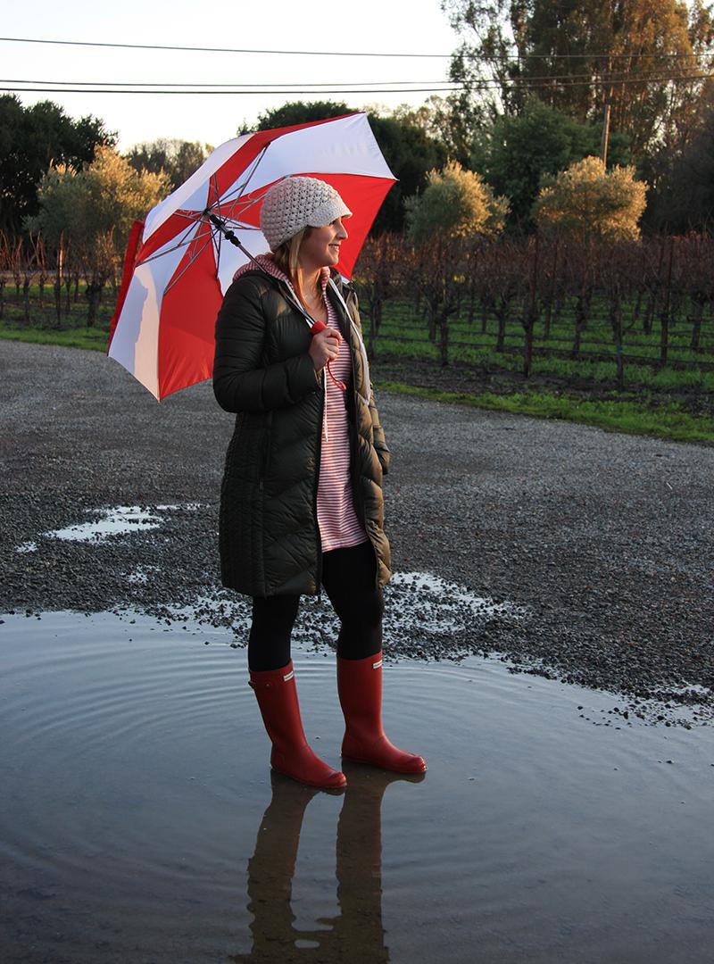 dalia-ceja-rainy-day-napa-valley-BCBGeneration Coat