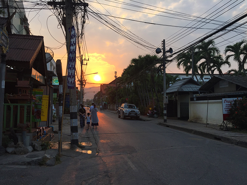 Gorgeous (and hot) sunset in Chiang Mai