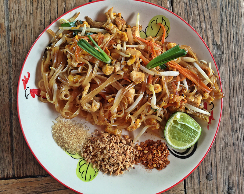 Homemade Pad Thai Noodles. Delicious!