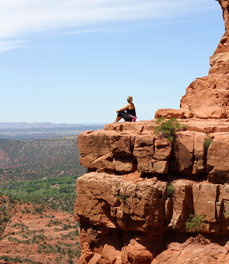 Tip top of Cathedral Rock Trail. Views were out of this world.