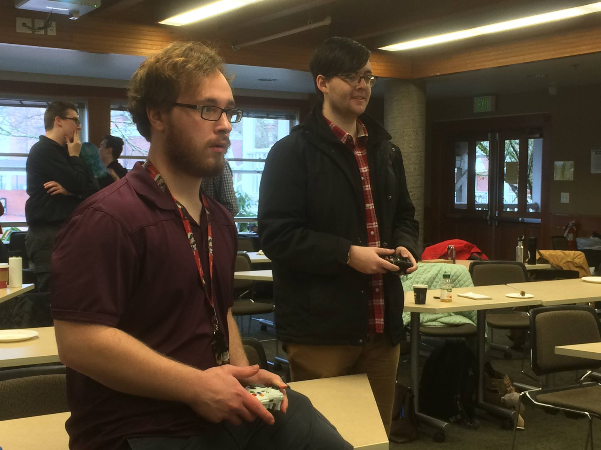 Enraptured gamesters, during our Game Showcase in the middle of the day.