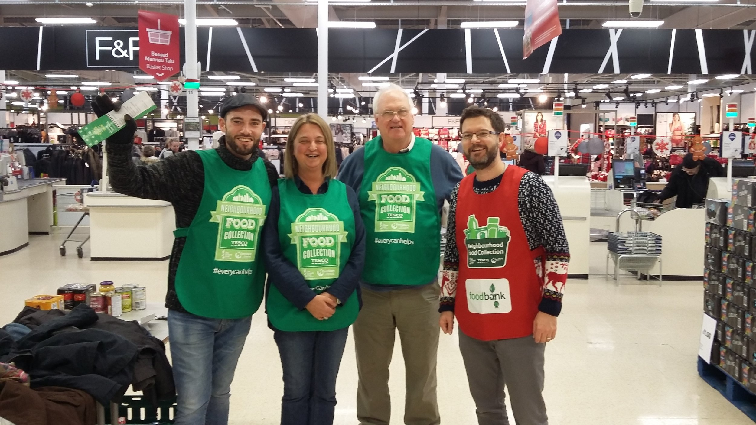 James Moss, Slate Legal's Managing Partner, pictured far right with other Newport Foodbank volunteers.