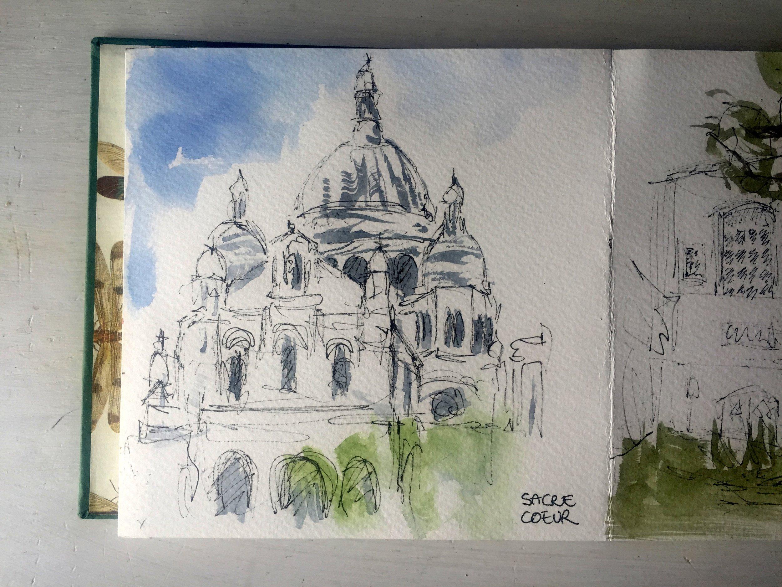 Paris Montmartre Sacre Coeur Church watercolor.jpg