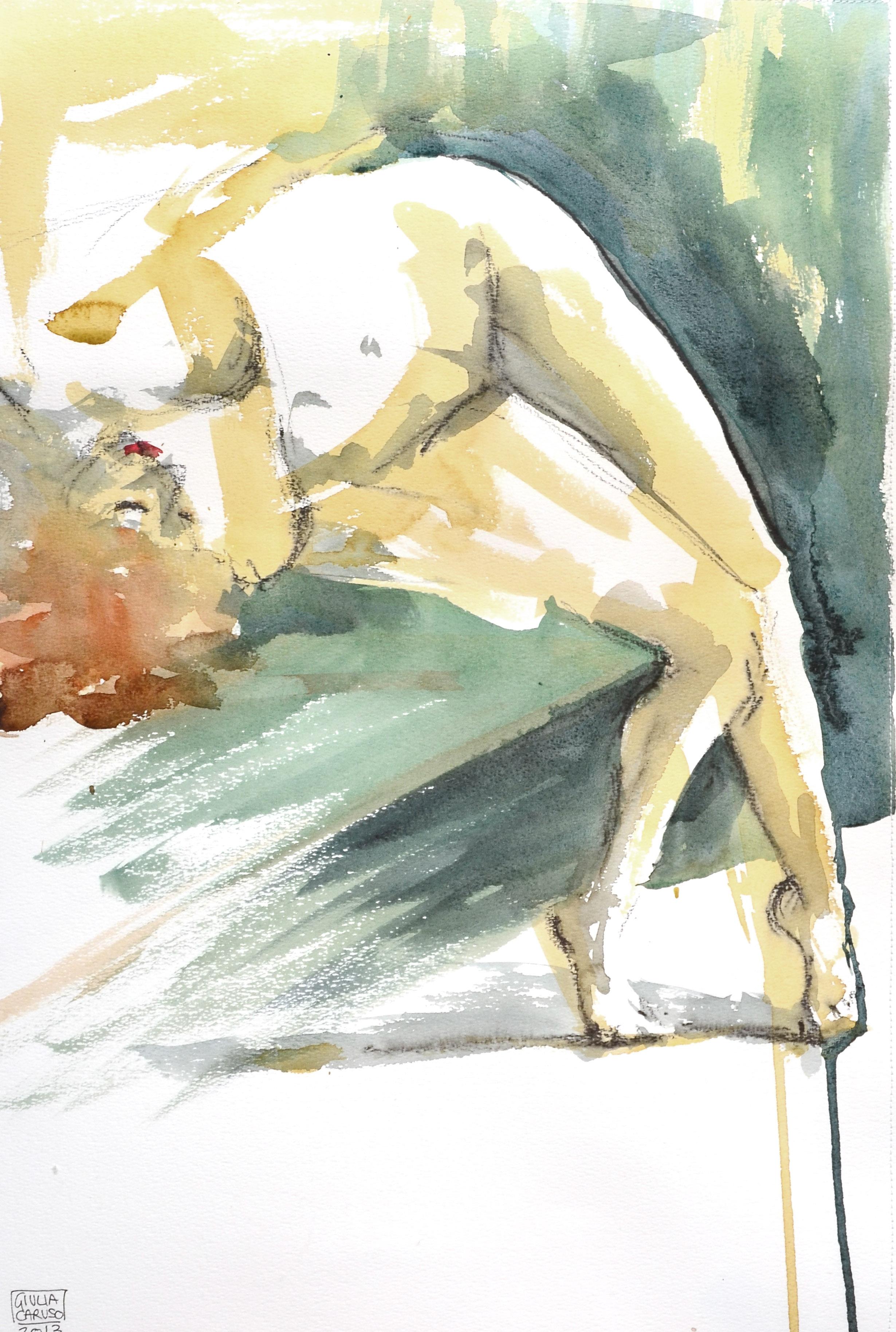 Watercolor life drawing nude redhead berlin.jpg