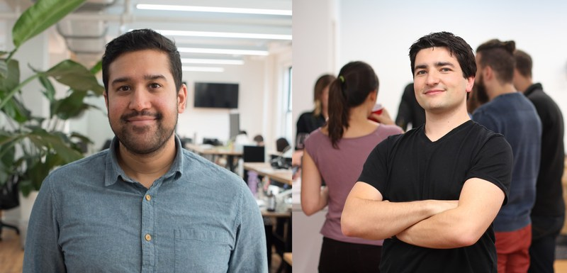 Parse.ly co-founders: CEO, Sachin Kamdar (left), and CTO, Andrew Montalenti (right).