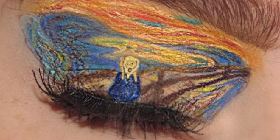 Evans' daughter creates 'eye art'