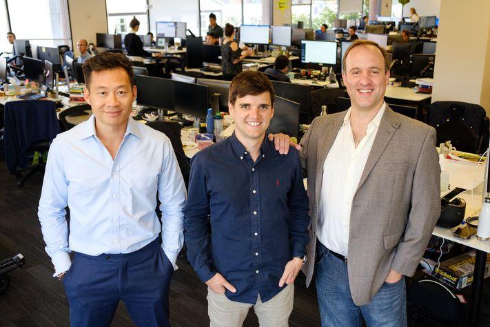Atrium cofounders Justin Kan, Nick Cortes and Augie Rakow. ATRIUM