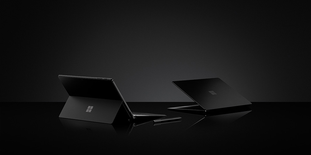 Microsoft on Tuesday, Oct. 2, 2018, announced the all-new Surface Pro 6 and Surface Laptop — both faster than ever with the latest 8th Generation Intel Core processors. The Surface Pro 6 and Surface Laptop 2 also now feature a new color option, a classic matte black. (Credit: Microsoft)