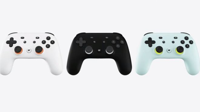 The Stadia controller comes with a YouTube sharing button and another for Google Assistant.