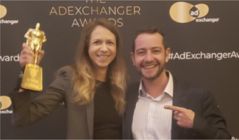 (Part of the US team: Ieva Meldere - Director Business Development on the left and Philip Mogilev - VP Enterprise Data Solutions on the right)
