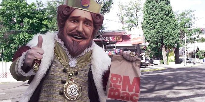 Burger King has become known for scorching its biggest rival, but stops short of being 'mean-spirited.'   Burger King