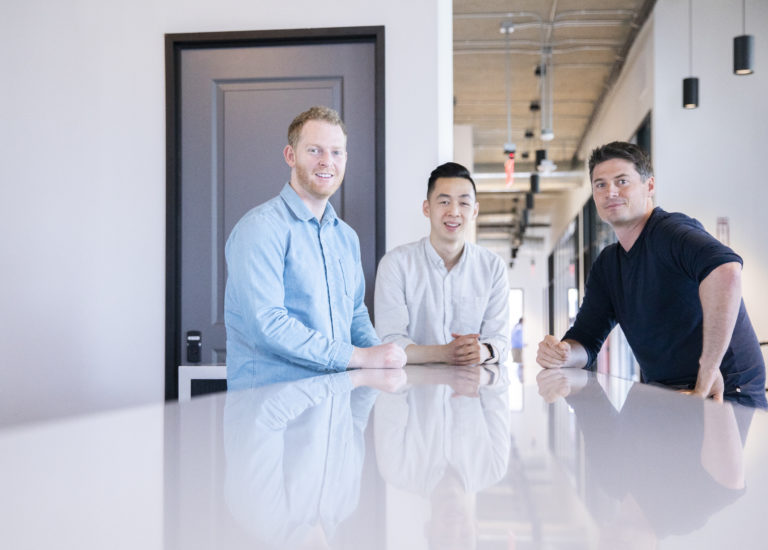 Left to right: Panoramic co-founders Bryan Baum, Johnny Wong, and Peter Muzzonigro