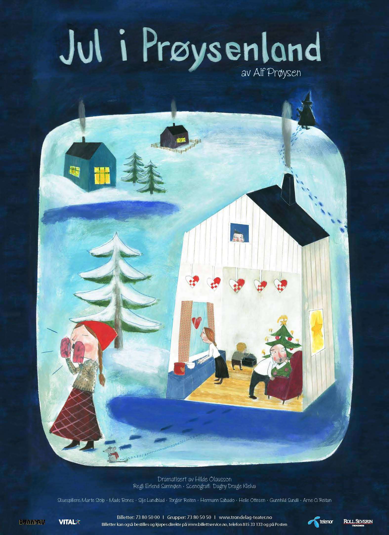 Plakat /Prøysenland, en juleforestilling spilt på Trøndelag Teater 2008-2012  Dialogue/Trøndelag Teater 2008