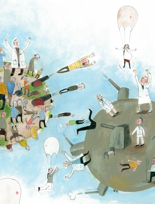 Norwegian healthcare.  Editorial, Helse midtnorge/Bennett reklamebyrå