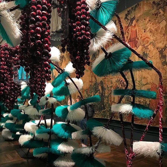 Easily my highlight of London Design Festival. This lush multi-textured installation by @henrikvibskov . . . . #ldf18 #artinstallation #trendsdecoded #lstlondon #textilesdesign #knittingpattern #textures #designfutures #environmentalart
