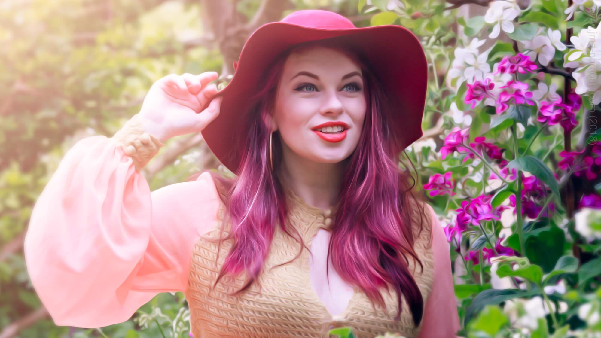 'Electric Red' - Model : Becky Bennett  April 2017