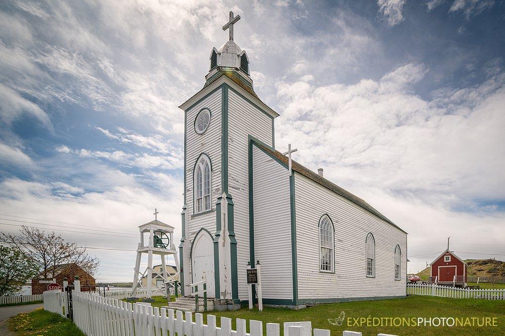 Église à Trinity - Crédit photo: Martin Poirier, participant de l'atelier