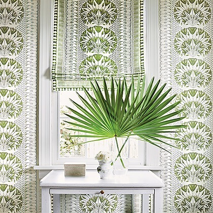 The new Anna French wallpaper is here and it's gorgeous!! Stop in to see the colors in person! #getitataubusson #waynepa #mainlinepa #mainlineinteriordesign #calltoorder☎️ #wallpaperdecor #colorfullife #green #shoplocal #refreshyourspace #thibautwallpaper