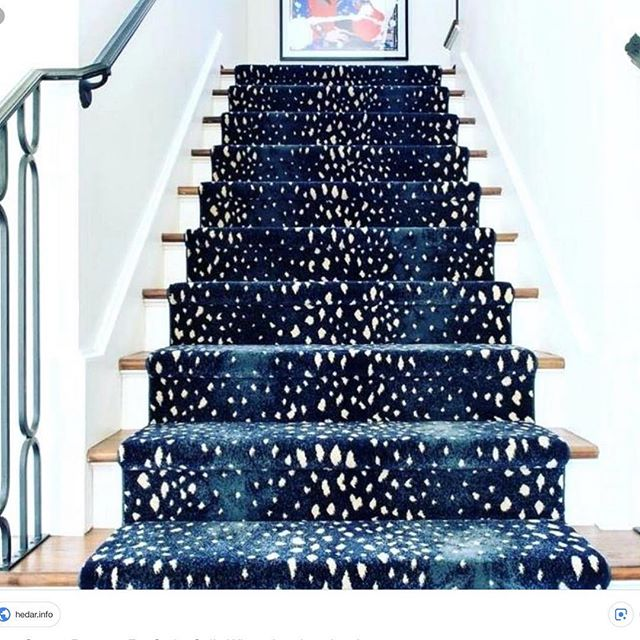 Seriously?  This blue antelope runner is my new obsession!💙💙#blueobsession #starkcarpet #getitataubusson #blue #blueandwhite #mainline #mainlinedesign #mainlinemodern #antelope #waynepa #shoplocal