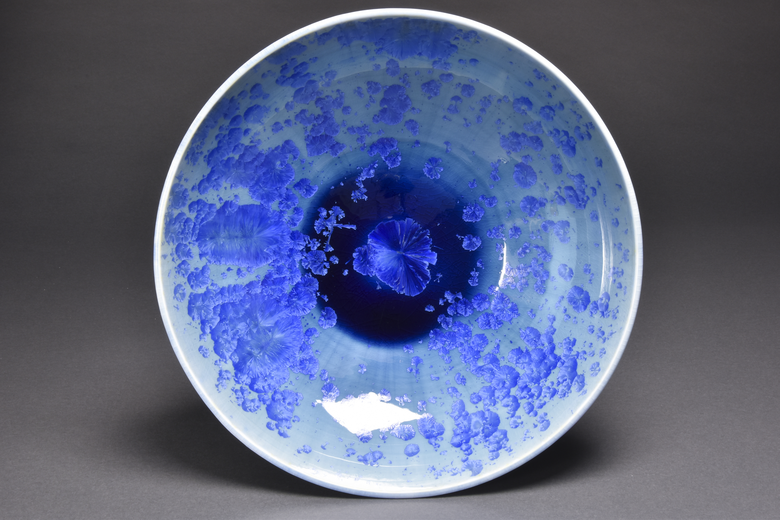 Crystalline Glazed Platter-bowl