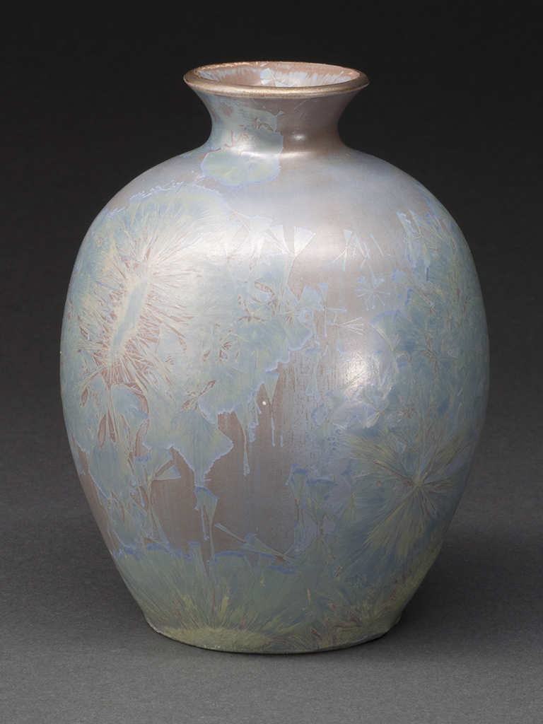 Small Crystalline Glazed Porcelain Bottle
