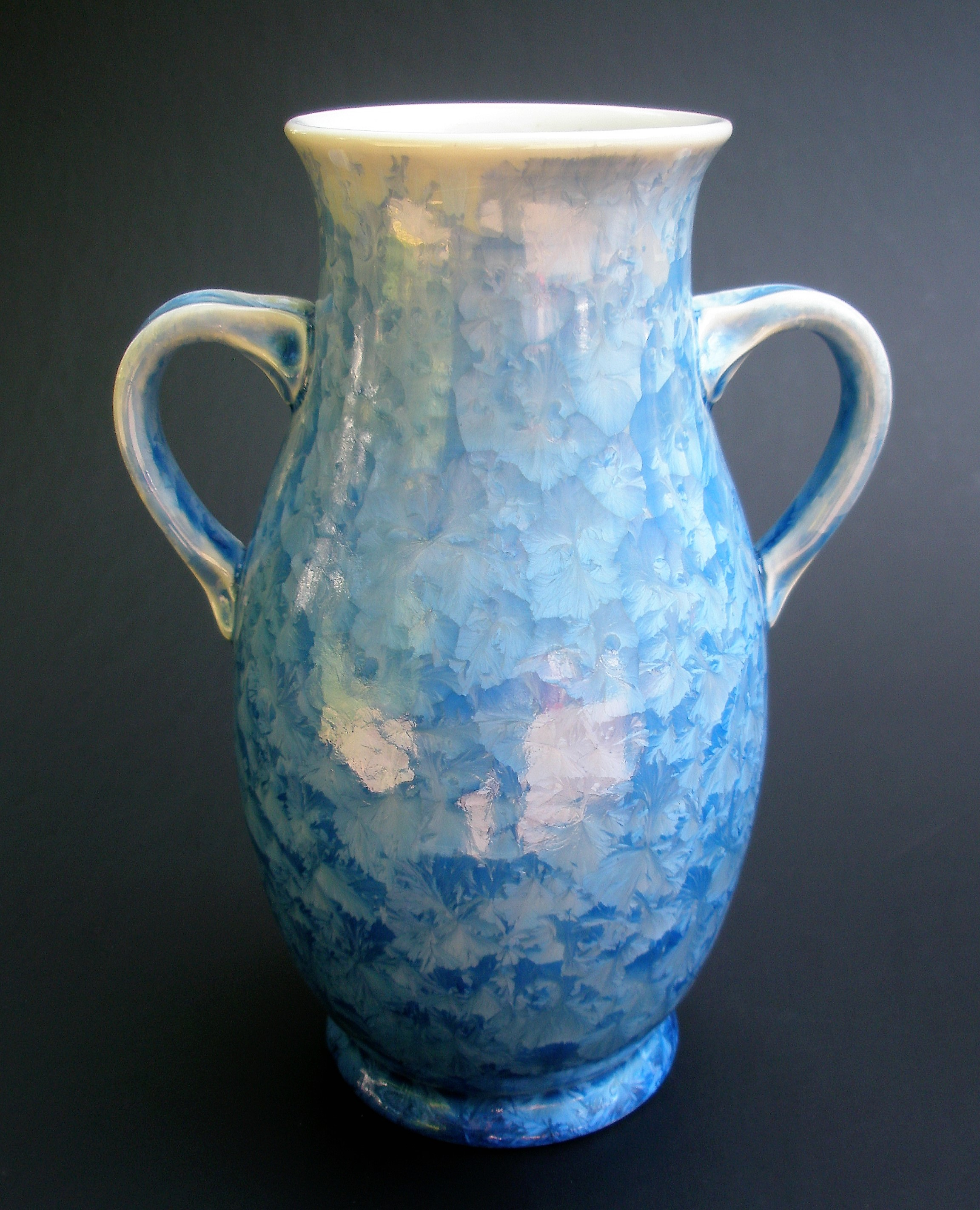 Small Crystalline Glazed Amphora