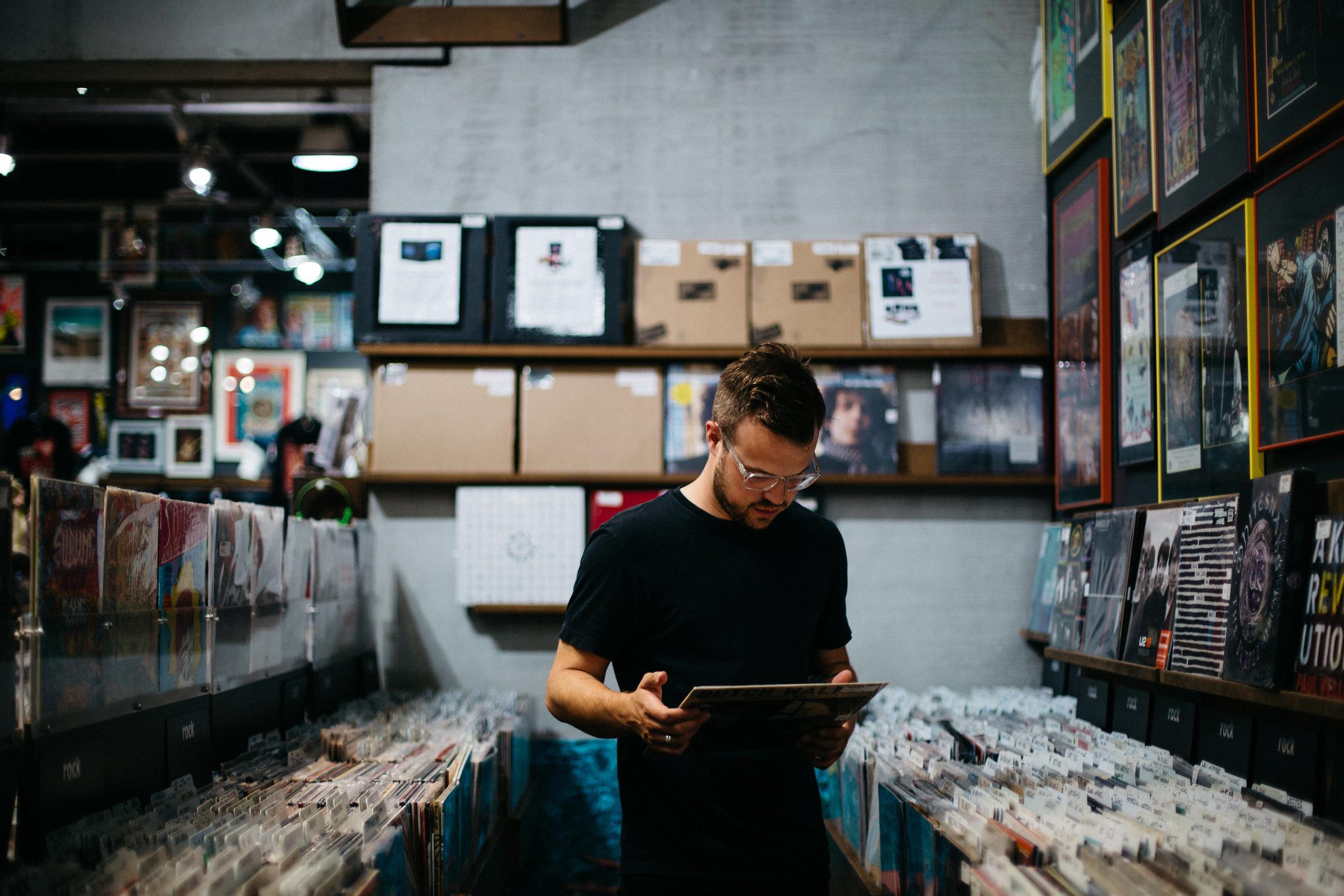 Ian Mahan at Record Shop